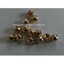Dia3.5mm entalhada tungstênio diamante facetado grânulo na cor ouro