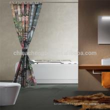 China Cortina de ducha impresa con la luz Rod de la cortina de la ducha
