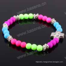 Latest Style Fashion Colorful Plastic Religious Bracelet