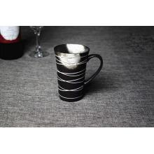 Nouvelle tasse de céramique en noir décoratif 2016 avec boîte individuelle