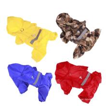 Haustierkleidung Regenmantel mit süßem Doppeldecker Regenmantel