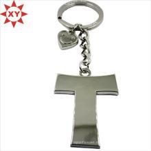 Benutzerdefinierte Herz-Form Anhänger Kreuz-Form Silber Schlüsselanhänger