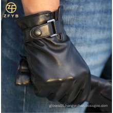 2016 fashion new style custom leather gloves for men