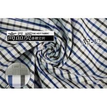 Carbón de leña/Marina de guerra comprueba Chequer hilado teñido de tela de camiseta