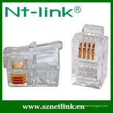 Plugue modular de telefone Netlink 4p4c