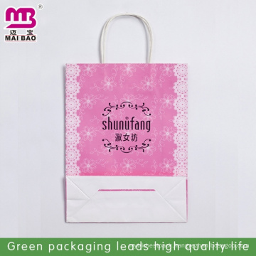 rectangle transparent paper bag for packaging rice
