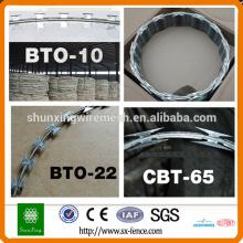 Alambre de seguridad del alambre de la armadura del precio de fábrica Alambres BTO22 BTO28