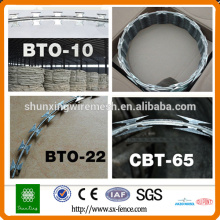 Factory Price Concertina Razor Wire Security Wires BTO22 BTO28