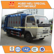 DONGFENG 4x2 kleiner 5cbm Müllsammelwagen 95hp mit Pressmechanismus heißer Verkauf für Export