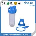 Transparentes Wasserfiltergehäuse aus Kunststoff