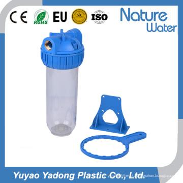 Um alojamento em linha do sistema do filtro de água da fase