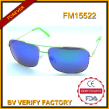 Nuevas gafas de sol Metal azul polarizaron, alta calidad FM15522
