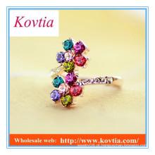 Ímã de cristal colorido delicado do anel do desvio da forma da forma