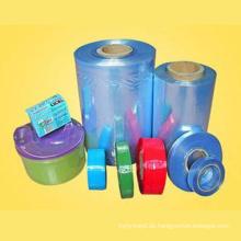Crystal Clear Food Grade Polyvinylchlorid Wärmeschrumpfschlauch Film für Früchte und Artikel Wrapping mit FDA zugelassen (XFF03)