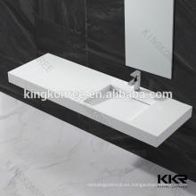Lavabo de piedra artificial al por mayor caliente del cuarto de baño para el hospital, centro comercial