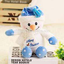 Boneco de neve engraçado feito-à-medida do brinquedo do luxuoso do Natal