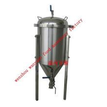 Tanque de fermentação revestido com glicol