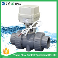 2 Vias NSF Ce Plástico PVC UPVC Água Elétrica Motorizada Atuador Motorizado Válvula de Esfera