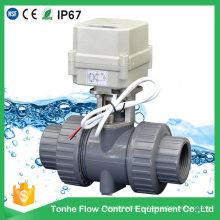 2 Way NSF Ce Пластиковый ПВХ ПВХ электрический моторный моторный приводной шаровой кран