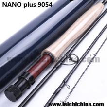 Haute Qualité Nano Plus 9FT 4 Section 40 t + 46 t Toray Carbone Mouche Tige Blanc