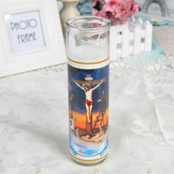 Lugar sagrado religioso 8 pulgadas Jar Church Candles