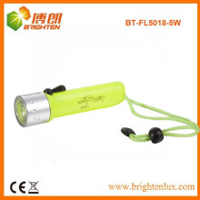 Factory Supply ABS Material High Power Under Water q5 cree led flashlight for Diving with 4aa