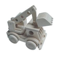 Agarrar caminhão de guindaste brinquedo mini escavadeira de madeira