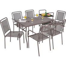 Outdoor iron netting furniture 7pc dining set