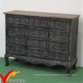Kommode Handmade Black Home Cabinet Vintage Französisch Wohnzimmer Möbel