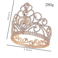 2018 Fashion Rhinestone Crown Gold para fiesta