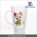 Decal Frosted Glass Mug/Cup, Printed Glass Mug/Cup, Imprint Glass Mug (GB094212-DR-109)