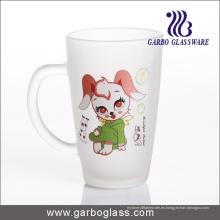 Taza de vidrio esmerilado / taza, taza / taza de vidrio impreso, taza de vidrio de impresión (GB094212-DR-109)