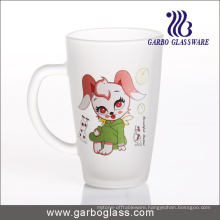 Decal Frosted Glass Mug/Cup, Printed Glass Mug/Cup, Imprint Glass Mug (GB094212-DR-109)
