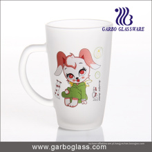 Decalque de vidro fosco caneca / copo, caneca de vidro impresso / copo, impressão caneca de vidro (GB094212-DR-109)