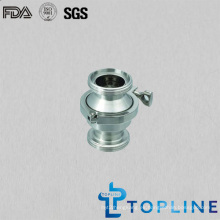 Válvula de retención roscada sanitaria de acero inoxidable