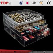 Multi-Purpose 4-Drawer Clear Acrylic Makeup, Cosmetic & Jewelry Organizer