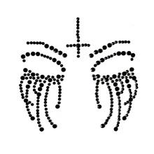 wholesale Eco-friendly Rhinestone Stickers Body Jewelry acrylic Face Tattoo Sticker for All Hallows' Day