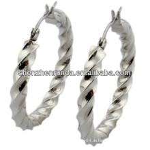 China Hersteller, 2014 Mode Edelstahl Ohrring mit Welle, Frauen Ohrring
