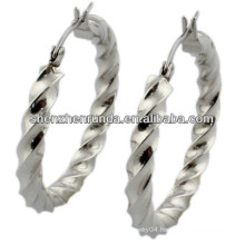 china manufacturer,2014 fashion stainless steel earringwith wave,women earring