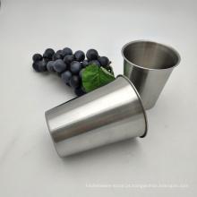 Caneca de café de viagem de aço inoxidável do copo da caneca da cor da tira do ouro do metal
