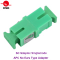 Sc Simplex Singlemode APC Fiber Optic Adapter Without Ear