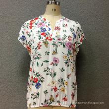Женская вискоза с короткими рукавами и блузкой