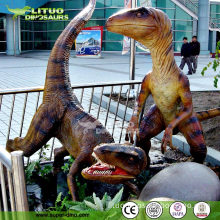 Outdoor Park Playground Life Size Robotic Dinosaur Model
