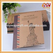 Caderno de papel kraft da memória da cidade, popular a4, caderno a5 de artigos de papelaria da China School