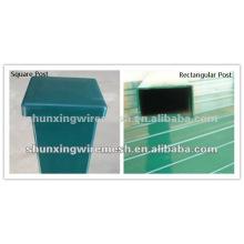 Postes de vedação de aço pulverizado em PVC