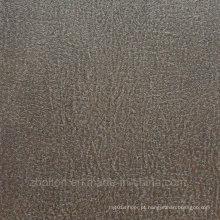 Telha de assoalho de vinil de tratamento de superfície de couro