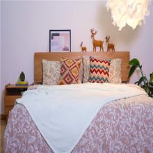 Couverture de lit Jacquard en velours molletonné corail doux personnalisé