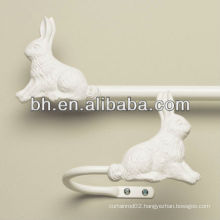 rabbit flexible curtain rod, acrylic curtain rods, curtain rods for child