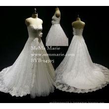 2016 новый стиль женщин платье классический элегантный милая свадебное платье свадебное платье с аппликацией кружева