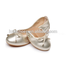 Girls Roll Ballerina Shoes Wholesale 2016 Ladies Fancy Flat Dance Shoe
